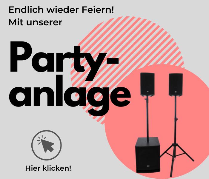 Partyanlage mit Lautsprechern im Angebot Kassel Fuldatal zum Mieten